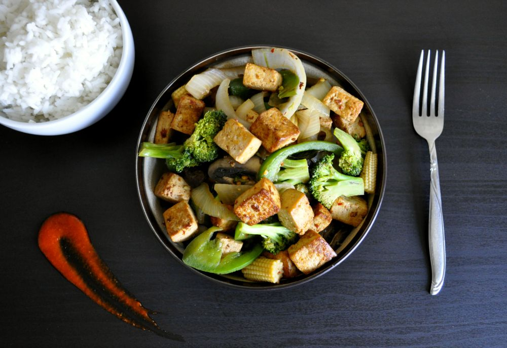 Thai Basil Tofu Stir-fry